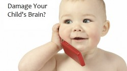 Cute child talking to a cell phone