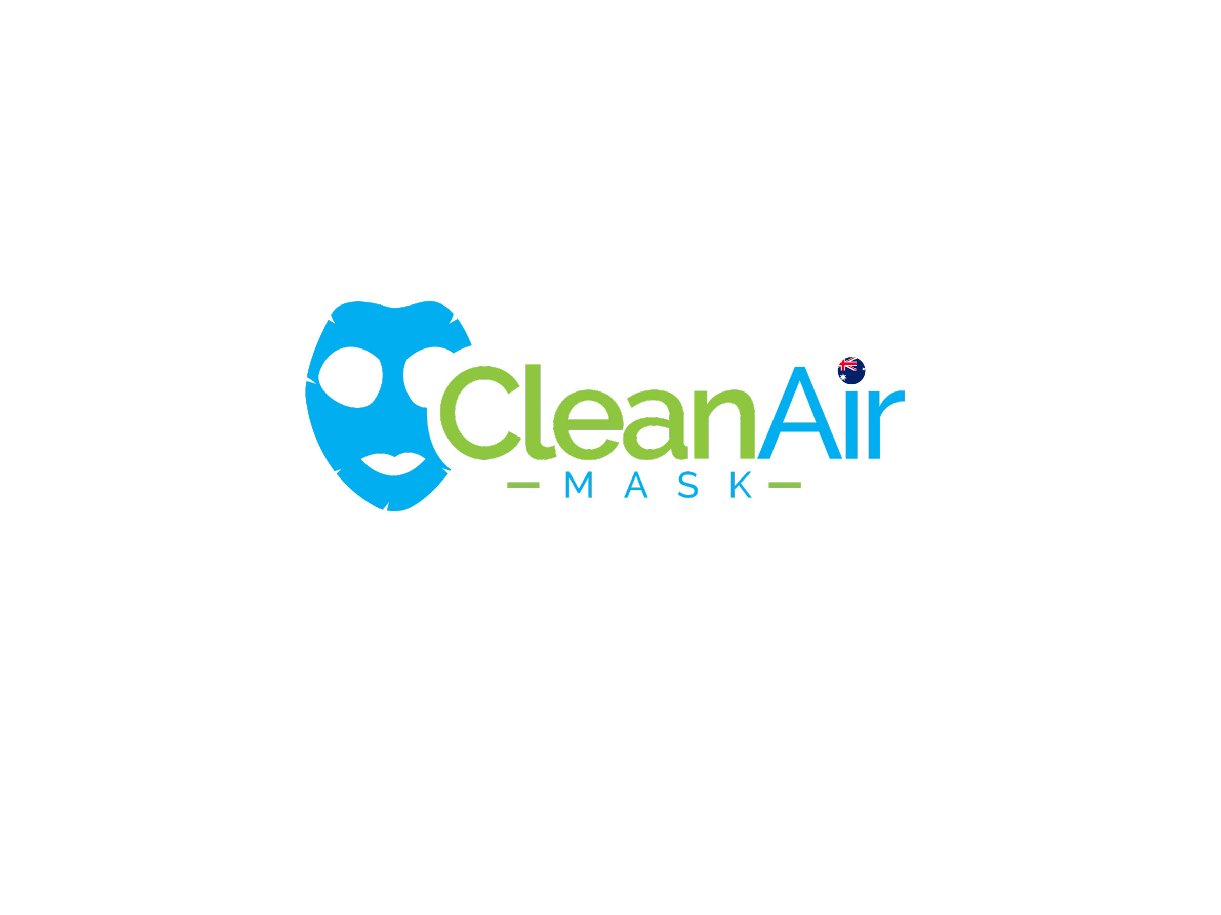 clean air mask white background
